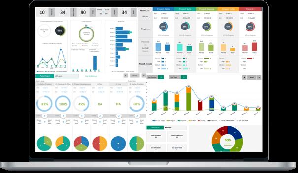Project Portfolio Dashboard Template Excel