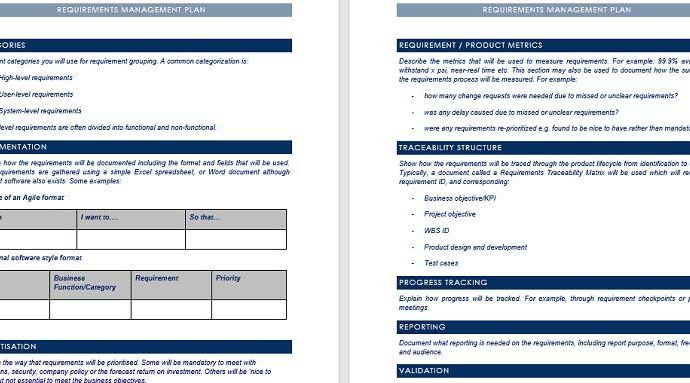 Requirement Management Plan Template