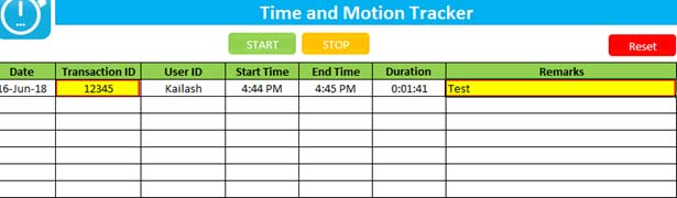 Time-and-Motion-Tracker
