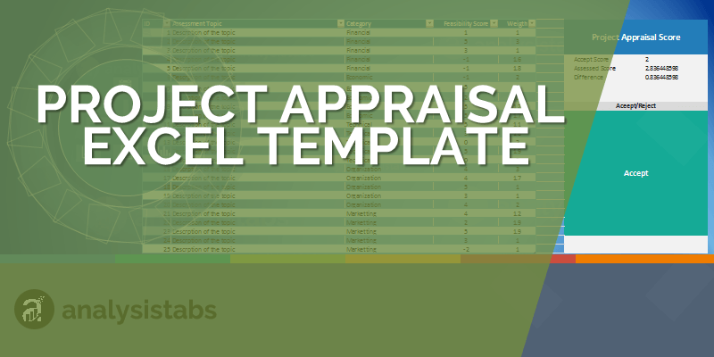 Project Appraisal Excel Template